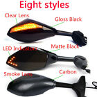INTEGRATED LED SIDE MIRRORS FOR HONDA CBR1100XX CBR 600RR 600 F1 F4I 900 929 954