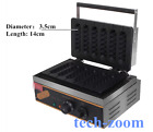 New Commercial electric 6 muffin French hot dog making machine waffle machine t