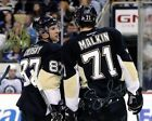 SIDNEY CROSBY EVGENI MALKIN SIGNED AUTOGRAPH 8X10 PHOTO PITTSBURGH PENGUINS