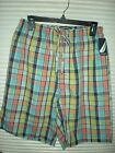 Nautica Boxer Shorts New Mens Plaid Sleep Wear Size Small