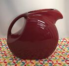 Fiestaware Cinnabar Large Disc Pitcher Fiesta Retired Water Pitcher