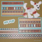 SEWN PREMADE Scrapbook Page Puppy My Pup Tear Bear Dog 12x12 MSND Jenn