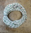3 8 x 90 ft Dacron Polyester HalyardSpliced in S S Snap Shackle Green Tracer