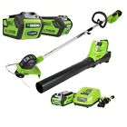 Cordless String Trimmer & Blower Combo Pack 40V Home Garden Care Patio Yard Tool
