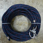 3 8 x 80 ft Dacron Polyester Halyard Spliced in S S Snap Shackle navy red