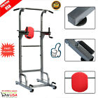 Weider Power Tower Exercise Home Gym Strength Pull Up  Push Up STATION Black VI