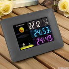 Wireless Color Weather Station Indoor/Outdoor Forecast Temperature Humidity Cloc