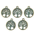 New 10pcs Life Tree Beads Alloy Charms Pendant DIY Jewelry Making 2420mm
