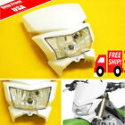 White Dirt Bike Motorcycle Headlight Fairing Enduro Cross Dual Sport Dirtbike SE