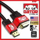 HDMI to DVI-D 24+1 Dual Link Cable Male Gold HDTV PC 1080P Display Adaptor 6FT