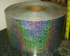HOLOGRAPHIC CONFETTI STICKER strip 6 X 10 ft peel off back sign shape letter