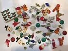 92 count Christmas Buttons Flatbacks Brads Trees Snowman INO CLEARANCE