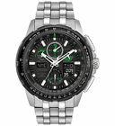 Citizen Eco-Drive JY8051-59E Mens Skyhawk Chronograph Black Dial Atomic Watch