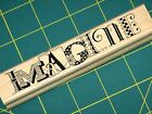 RARE NEW PAULA BEST IMAGINE 972 C RUBBER STAMP FUN TEXT
