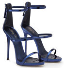 Womens Open Toe High Heels Strappy Silver Gladiator Sandals Ladies Summer Shoes