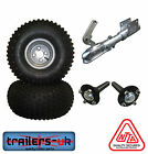 Heavy Duty ATV Trailer Kit inc Wheels Hubs Stubs  Swivel Coupling