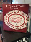 FITZ & FLOYD TOWN & COUNTRY LARGE TOILE PLATTER SERVING TRAY NEVER USED