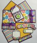 EASTER SALE Premade Scrapbook Page Mat Set sewn