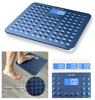 Blue Digital LCD Bathroom Scale Body Fat Weight Watchers Electronic 400Lb 180Kg