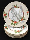 16287 Christmas Holly Dove by Fitz & Floyd  183 Salad / Dessert Plates - Japan