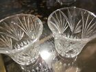 Lot of Two Deep Cut Glass Quality Hurricane Lamp Shades 425 High x 4