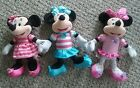 3 MINNIE MOUSE PLUSH 9 11 INCHES STRIPED STUFFED ANIMAL TOY