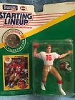 starting lineup Joe Montana  from 1991 with special edition collector coin