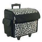 Everything Mary Rolling Sewing Machine Tote Cheetah