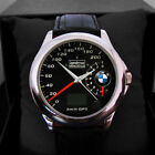 HOT ITEM BMW SPEEDOMETER MENS AND WOMENS NEW LEATHER SPORT WATCH UNISEX