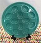 Fiestaware Turquoise Egg Tray - Fiesta HLC Blue Deviled Egg Serving Plate