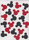 Die Cuts Disney Mickey Mouse Heads Red Black Polka Dot Bazzill 20piece
