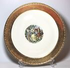 "HOMER LAUGHLIN EGGSHELL GEORGIAN ROYAL CHINA 22 KT GOLD 13.75"" diameter"