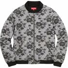surpeme quilted lace bomber jacket lx dead stock