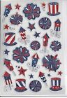 Americana 4th of July Patriotic Foil Stickers