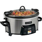 amp; Carry Digital Slow Cooker with Heat-Saver Stoneware