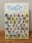 1987 CALIFORNIA RAISINS Button Store Display Complete 39 Buttons Collectible Pin
