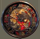 extra large Wall Clock backlit stained glass metal interior decoration big huge