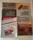 A Beka New World History  Geography 6th Grade Lot with Lesson Plans VG Accept