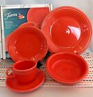 Fiestaware Poppy 5-Piece Place Setting - HLC Fiesta Orange Dish Set NIB