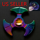 Sickle Zinc Tri-Spinner Fidget Toy EDC Hand Finger Spinner Rainbow