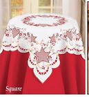 Northwoods Embroidered Table Topper Hearts And Stars Table Topper Square