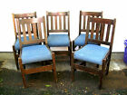 SET OF 5 ARTS  CRAFTS SIDE CHAIRS PEGGED ONONDAGA LJG GUSTAV PICK UP ONLY