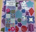Chipboard Chunk 30 Sheets 12x12 Chipboard Shapes and Alphabets