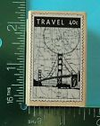 Hero Arts LUXE TRAVEL POSTAGE STAMP Rubber Stamp
