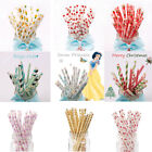 25PCS Birthday Party Drinking Paper Straws Wedding Baby Shower Party Supplies