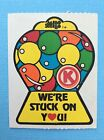 Vintage Scratch  Sniff Sticker Mello Smello Bubble Gum Circle K Gumball