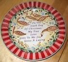 222 Fifth TWELVE DAYS OF CHRISTMAS Salad Plate six geese    100