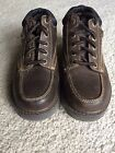 Boys Brown Lace Up Leather Sketchers Shoes Size 25 Lightly Used