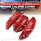 Metal 3D ENDLESS Universal Style Brake Caliper Cover front and rear 4pcs Red WL1