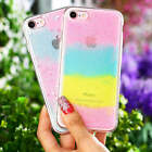Rainbow Glitter star Ultra thin Soft TPU Case Cover For iPhone 7 7 Plus 6s 6+